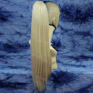 Wiwigs-Blonde-Mix-Long-Straight-Claw-Clip-Ponytail-Hairpiece-Extension