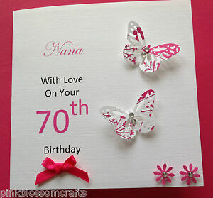 Handmade personalised birthday card mum grandma nana sister 50th image is loading handmade personalised birthday card mum grandma nana sister bookmarktalkfo Image collections