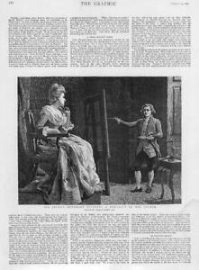1892  Antique Print  PORTRAITS Sir Joshua Reynolds Studio Charles Green 106 - KENT, United Kingdom - 1892  Antique Print  PORTRAITS Sir Joshua Reynolds Studio Charles Green 106 - KENT, United Kingdom