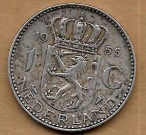 1 Gulden Argent 1955 Une Large SéLection De Couleurs Et De Dessins