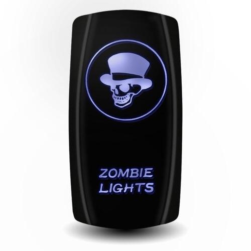 Auto Car Accessories Laser 12V 20A Toggle Rocker Switch Blue LED Bar Light Lamp