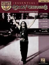 Essential Ozzy Osbourne Guitar Play Along 8 Songs! Tab Book Cd NEW!