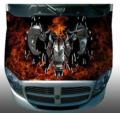 Ripped firefighter flame race car go kart motorcycle hood decal