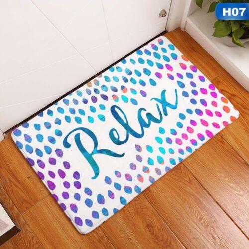 Letter Printed Home Entrance Floor Rug Non-slip Doormat Carpet Door Mat Decor