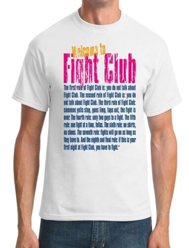 Fight Club Movie Inspired Mens T-Shirt Welcome to Fight Club
