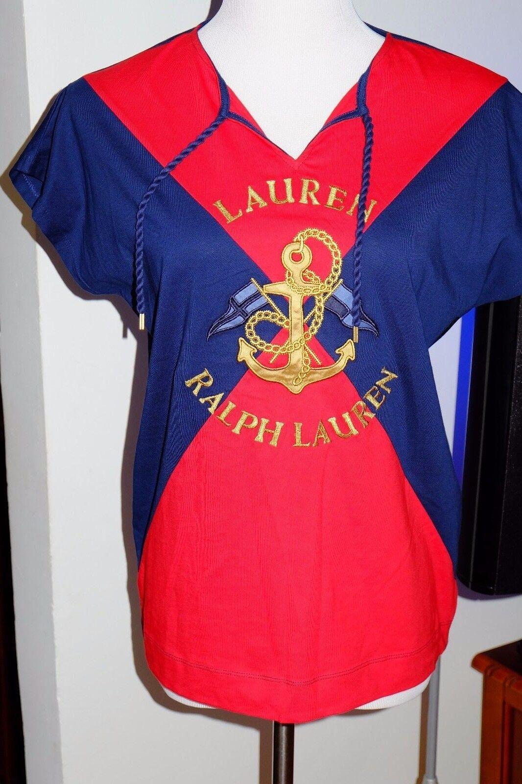 NWT Authentic Ralph Lauren Anchor Woherren Top