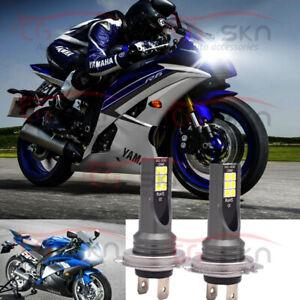 Led Headlight H7 Kit Conversion Bulbs For Yamaha Yzf R6 2003 15 Yzf R1 2006 16 Ebay