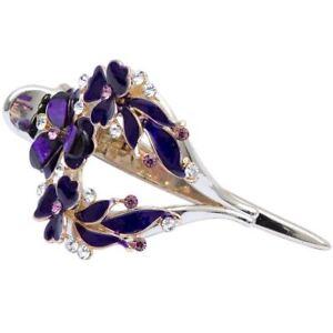 Large Vintage Fleur De Cristal Cheveux Clip Pince Clamp Bow Mâchoire Barrette Soirée Mariage-afficher Le Titre D'origine MatéRiaux De Qualité SupéRieure