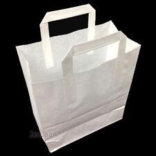 """2000 LARGE KRAFT PAPER CARRIER SOS BAGS 10x5.5x12.5/"""" BROWN TAKEAWAY FOOD PARTIES"""
