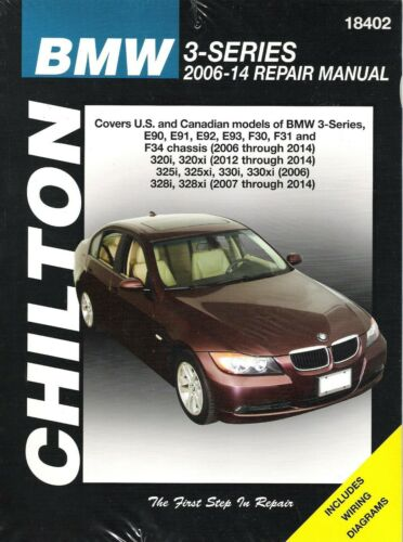 2006-2014 BMW 3-Series Chilton Repair Service Workshop Manual Book 3521