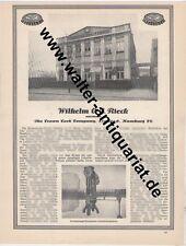 Wilhelm Rieck Kronenkorken-Fabrik Hamburg Große Werbeanzeige anno 1929 Reklame