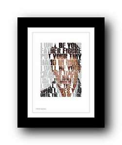 GEORGE-MICHAEL-wham-FATHER-FIGURE-song-lyrics-poster-art-edition-print-21