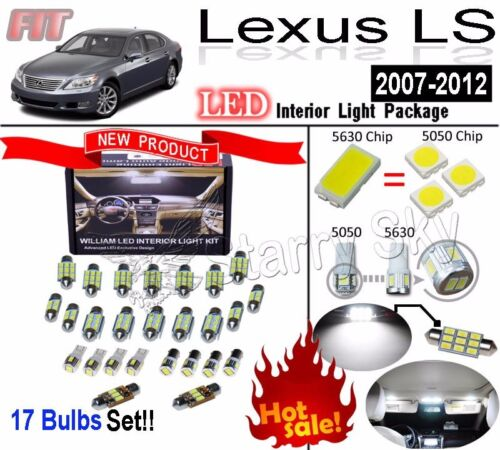 17 Lights LEXUS LS460//600h LED Interior Light Kit Super White Heigh LM Lamp Bulb
