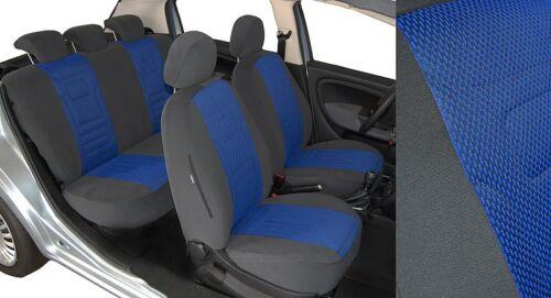 Maßgefertigte TrueColorBlau Sitzbezüge VW CADDY 3 2K Velours Stripes
