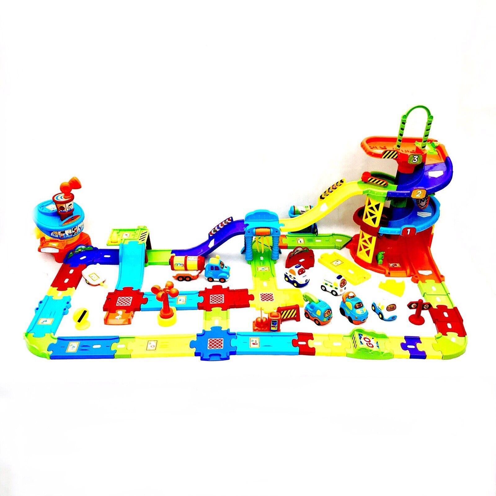 Centro comercial profesional integrado en línea. Enorme Vtech Toot Toot paquete aparcamiento & & & aeropuerto Personalizado Set 7 vehículos de juguete de remolque  comprar barato