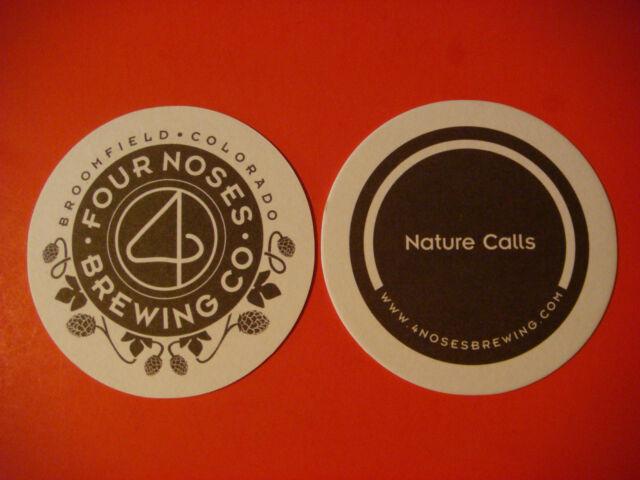 Beer Pub Bar Coaster ~*~ FOUR NOSES Brewing Company ~*~ COLORADO Craft Brewery