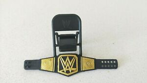 WWE-Wrestling-Championship-Belt-amp-Black-Foldable-Chair-for-Figurine-New-W-O-Tag