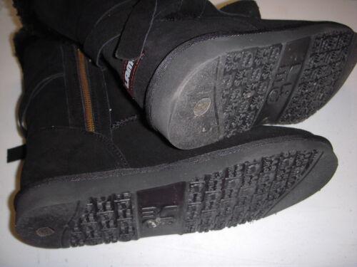 Lamo Medora Suede Leather Tie Detail Side Zip Boots w//Faux Fur Womens 9 M Black