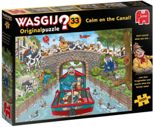 Wasjig Original Puzzle No 33 /'Calm on the Canal/' 1000 piece jigsaw puzzle