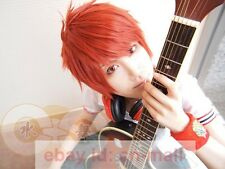 Fashion Short man Wig Ittoki Otoya Ryuunosuke Uryuu orange red cosplay wig