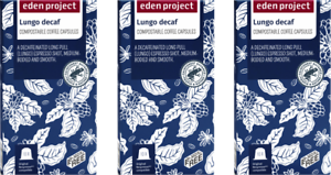 30 PLASTIC FREE EdenProject Home Compost Lungo Decaf Nespresso Compatible Pods