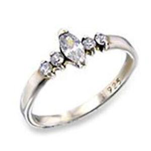 Bague luxe argent rhodié femme mode chic serti zircon diamant mariage solitaire