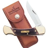 Schrade Old Timer Cave Bear Knife 5 Closed W/leather Sheath 7ot