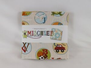 Benartex-Sampler-Charm-Pack-40-5-034-x-5-034-pieces-New-Mischief