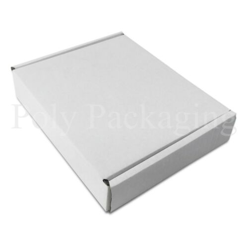 """10x8x2/"""" 25 x WHITE Posting Boxes 250x210x50mm Gift Box Packaging for Shipping"""