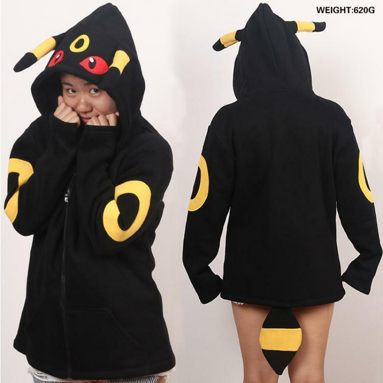 SWEAT-SHIRT POKEMON GO UMBREON À CAPUCHE COSPLAY COSTUME ANIME MANGA PIKACHU 1