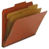 Nature Saver Classification Folders, 2 Exp., Legal, 2 Div, 10/bx, Red 01054 on sale