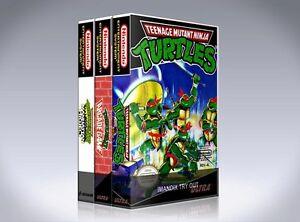 Details about NEW custom game storage cases NINJA TURTLES NES TRILOGY -No  Game- TMNT arcade