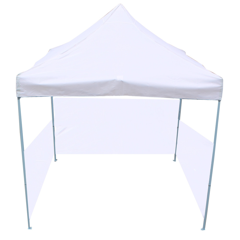 Carpa plegable 300x300cm tienda blanca con telas laterales