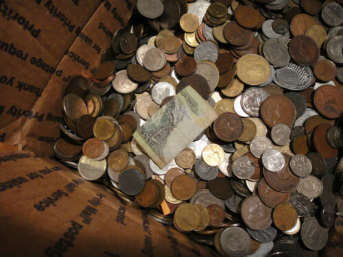 """2 POUND /""""BULK/"""" WORLD FOREIGN COIN LOTS /""""Kids Love Coins!/"""" 94732"""