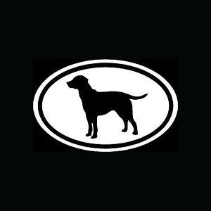 Lab-Labrador-Retriever-White-Oval-Sticker-Dog-Breed-Puppy-Vinyl-Decal-Cute-Car