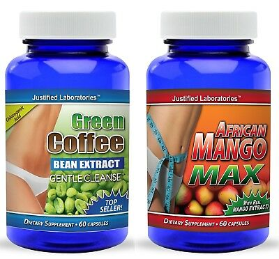 Pure Green Coffee Bean Extract Cleanse Super African Mango Diet