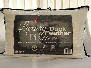 2-paquete-de-gran-calidad-de-plumas-de-Pato-Jumbo-hotel-almohadas-de-algodon-blanco-con-bolsas