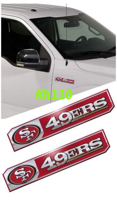 551bc55ffdc NFL San Francisco 49ers Car Truck Edition Badge Color Aluminum Emblem  Sticker