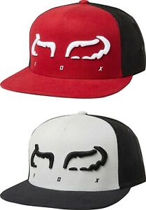 low priced ee513 9b5c8 Image is loading Fox-Racing-Strap-Flat-Bill-Snapback-Men-039-