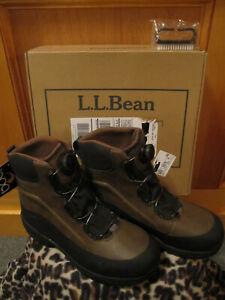 New Mens Ll Bean River Treads Wading Boots Boa 12m Studded Aqua Stealth Sole Ebay
