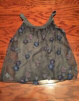 Cosmo Pronto Moda Made In Italy Overlay Embroidered Women's Top Size S
