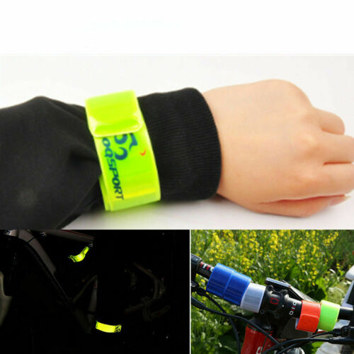 10PCS Bike Bicycle ArmLeg Pant Pant Reflective Band Strap Belt Safety Reflector