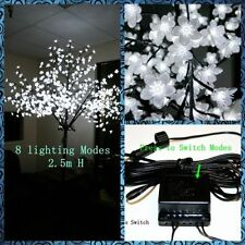 8.2ft 600LED Cherry Blossom Tree Lights Lamp,8 lighting Modes,Pure White,Outdoor