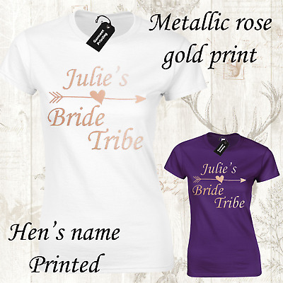 Hen Party Tops Hen Do Bride To Be Tribe T-shirts Custom Personalised BRH9