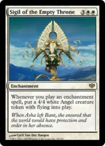 English Conflux MTG Magic 1x Sigil of the Empty Throne NM-Mint