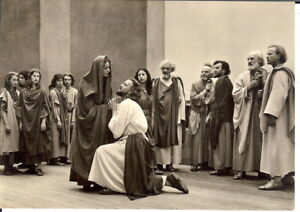 Germany-Official-Postcard-Passion-Play-Oberammergau-1960-BW-RP-Posted-1961
