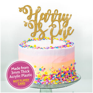 Outstanding Happy 1St Birthday Cake Topper One 1 Glitter Any Age Any Name Funny Birthday Cards Online Hetedamsfinfo