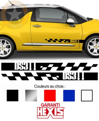 2 X BANDES PORTES DECO CITROEN DS3 5.0 KIT RALLYE AUTO VOITURE STICKER BD515-1