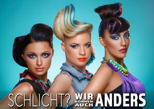 Aufkleber Plakat Friseur Beauty Salon Werbung Versch Din Formate