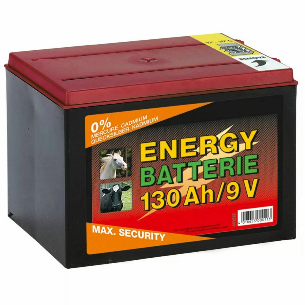 Kerbl Dry Battery Accumulator Zinc Carbon 9 V 130 Ah Fence Horse Equine 441219